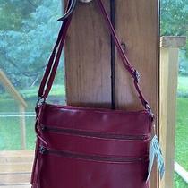 The Sak Crossbody Leather Red Photo