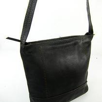 The Sak Dark Brown Genuine Leather Tote Bag Handbag Purse Shoulder Bag Gorgeous Photo