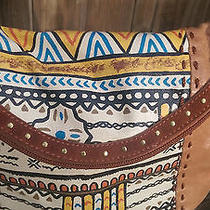 The Sak Deena Flap Crossbody in Tobacco Tribal Painted Photo