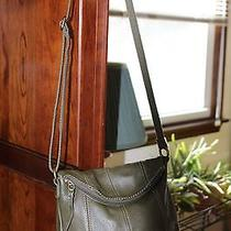 The Sak Deena Leather Flap Crossbody in Green Leather Photo