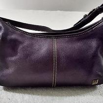 The Sak Genuine Leather Brown Pebble Small Shoulder Bag Purse Euc Photo