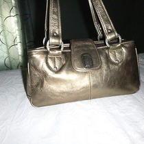The Sak Gold Leather Purse Photo