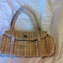 The Sak --Gold Woven -- Bag --Handbag --Purse-- Nwot Photo