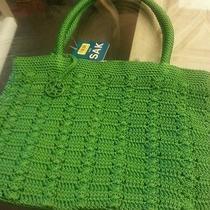 The Sak Gorgeous Classy & Trendy Green Woven Crochet Tote Bag Photo