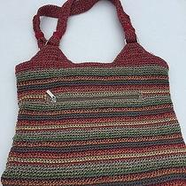 The Sak Gypsy Voyager Multi-Color Striped Belle Tote Crochet Women's Bag/purse. Photo