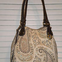 The Sak Handbag 100% Cotton Paisley Small Cross Body Tote Purse Boho Chic Photo