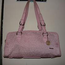 The Sak Handbag Knit Microfiber Satchel Pink  Photo