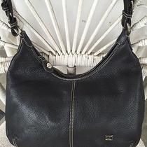 The Sak Handbag Medium Large Black Leather Shoulder Bag Bucket Purse Travel  Photo