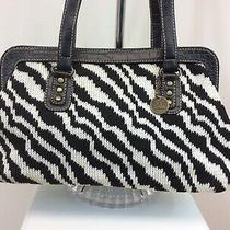 The Sak Handbag Purse Knit Animal Print Black and White Medium Photo