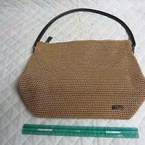 The Sak Handbag Purse Tan Crochet Hobo Bag Photo