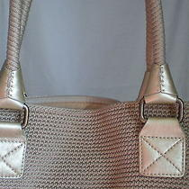 The Sak Iconic Designer Woven Doublehandles Neutral/gold-Ish Metallic High-End Photo
