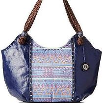The Sak Indio Leather Satchel in River Tribal New 149 Photo