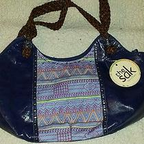 The Sak Indio Leather Satchel in River Tribal New 90 Photo