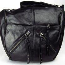 The Sak Iris Black Zipper Genuine Leather Purse  Photo