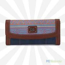 The Sak Iris Flap Wallet Trifold Leather - River Tribal Quilted - Nwt Photo
