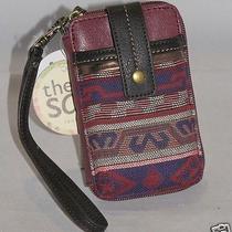 The Sak Iris Iphone Smartphone Wristlet Bordeaux Tribal Style 105474 Nwt Photo