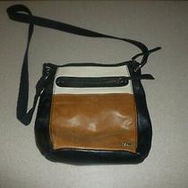 The Sak Iris Leather Crossbody Bag Handbag Purse Hobo Satchel Brown Black Ivory Photo