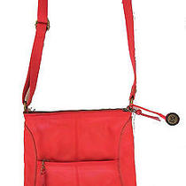 The Sak Iris Leather Reddish Orange Crossbody Bagcustomer Returns Photo