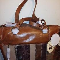 The Sak Iris Satchel Leather Handbag Orignal Price 109 Photo
