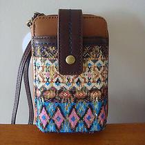 The Sak Iris Smartphone Iphone Wristlet Blue Tribal Style 105474 Nwt Photo