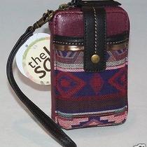 The Sak Iris Smartphone Iphone Wristlet Bordeaux Tribal Style 105474 Nwt Photo