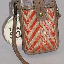 The Sak Iris Smartphone Iphone Wristlet Orange Chevron Style 105474 Nwt Photo