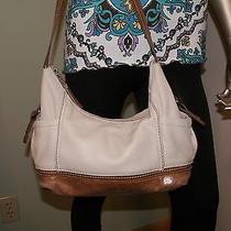 The Sak Ivory Leather Shoulder Bag Handbag Purse Photo