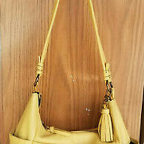 The Sak Keira Light Yellow Leather Hobo Bag Purse Photo