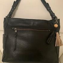 The Sak La Mesa Leather Tote Bag in Black Photo