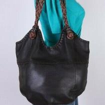 The Sak Large Brown Leather Shoulder Hobo Tote Satchel Purse Bag Photo