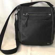 The Sak 'Laurel' Crossbody Bag/purse Black Pebbled Leather   - Superb Condition Photo