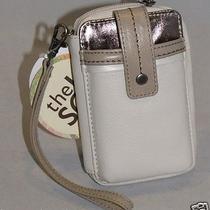 The Sak Leather Iris Smartphone Iphone Wristlet Linen Multi 105474 Nwt Photo