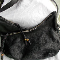 The Sak Leather Olema Hobo Bag Black Gloves Soft Pebble Leather Nwt 139 Photo