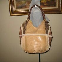 The Sak  Leather Patch Bucket Shoulder Bag Photo
