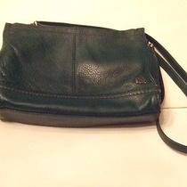 The Sak Leather Shoulder Purse Green Soft Leather Photo