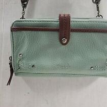 The Sak Light or Sky Blue Leather Shoulder Xbody Bag Convert to Wallet Photo
