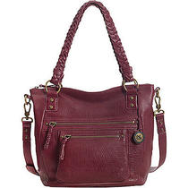 The Sak Mariposa Satchel - Wine Leather Handbag New Photo