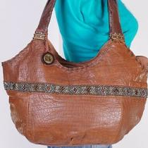 The Sak Medium Brown Leather Shoulder Hobo Tote Satchel Purse Bag Photo