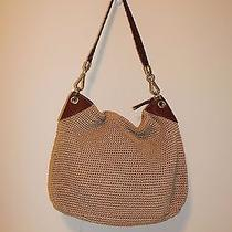 The Sak Medium Solid Beige Woven Shoulder Bag  Photo