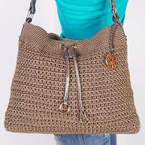 The Sak Medium Tan  Knitted  Shoulder Hobo Tote Satchel Purse Bag Photo