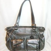 The Sak Metallic Gunmetal Handbag  Photo