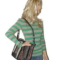 The Sak Multi Color Safari Cheetah Leopard Brown Leather Shoulder Tote Bag Photo