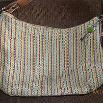 The Sak Multi Striped Crochet Knit Shoulder Handbag Photo