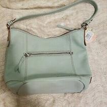 The Sak Nwt 159 Sequoia Mint Green Pebble Leather Shoulder Hobo Bag Charm Photo