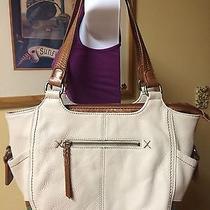 The Sak Off White Leather Satchel Hobo Bag Photo
