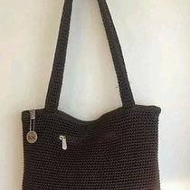 The Sak  Olive Crocheted Shoulder Bag Purse Classic ...primo Euc Photo