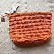 The Sak Orange Cosmetic Bag Clutch Purse Bag Nwt  Photo
