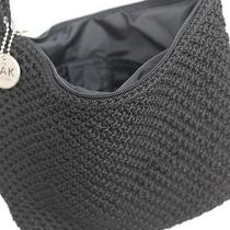 The Sak Original Black Crochet Knit Cross-Body Purse Handbag Zip Closure Photo