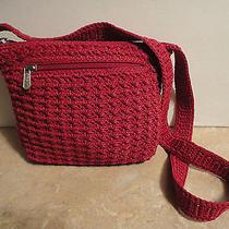 The Sak Original Small Crochet Red Handbag Photo