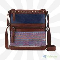 The Sak Pax Leather Swingpack Tablet Crossbody - River Tribal Quilted - Nwt Photo